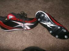 NEW MENS REEBOK NFL PRO FOOTBALL CLEATS BLACK AND RED SIZE 10.5 11.5 SPORTS