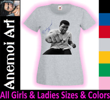 CL32 Signed Signature Autograph Ladies Muhammad Ali t shirt tee t-shirt Gift