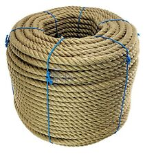 16mm Natural Jute Hessian Rope Cord Braided Twisted Boating Sash Garden Decking
