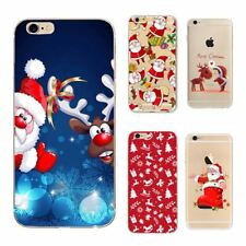 Christmas Santa Printed Back Soft Silicon Case iPhone 6S 5S 7 Cases Cover Sale