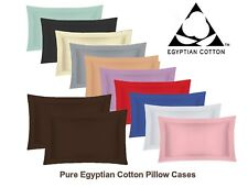 Pure Egyptian Cotton Oxford Pillow Cases Pair Housewife Pillow Cases 200 Thread