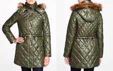 Marc New York Kava Faux Fur Trim Quilted Puffer Women's Coat NWT MSRP $248