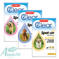 Bob Martin Clear Dog Spot on preventing & killing fleas & tick Contains Fipronil