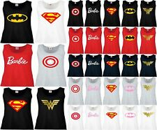 Wonder Womens t shirt WW Barbie superman captain america Vest Tank Top XS-2XL