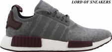 Adidas NMD R1 MENS Grey/White/Maroon All Sizes 6 7 8 9 10 11 12 Limited Crep