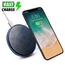 Fast Qi Wireless Charger Charging Pad Mat Slim For iPhone X Note 8 S9+ S8 Plus