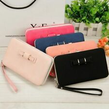 Women Bow-knot Wallet Long Purse Phone Card Holder Clutch Large Capacity Pocket