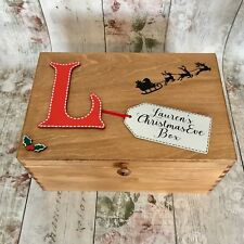 Large Personalised Wooden Christmas Eve Box  HBBOX-1