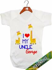 I Love My Uncle 'PERSONALISED' Baby Vest / Baby Grow / Baby Playsuit