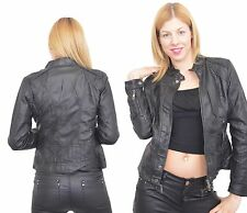 211 Giacca di Pelle Donna Pelle Giacca Giacca similpelle Giacca
