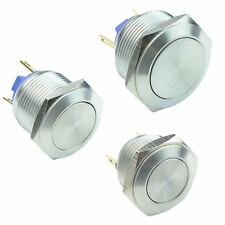 Vandal Resistant Stainless Steel Momentary Push Button Switch 2A SPST
