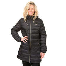 Trespass Prudhoe Padded Lightweight Black Womens Jacket Quilted Long Ladies Coat