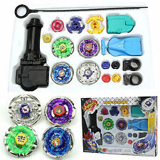 Fusion Top Metal Masters Rapidity Fight Rare Beyblade 4D Launcher Set Kids Child