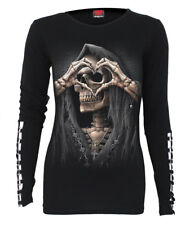 Spiral Dark Love, Buckle Cuff Long Sleeve Top|Reaper|Heart|Death|Celtic