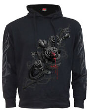 Spiral Fatal Attraction, Side Pocket Stitched Hoody Black|Roses