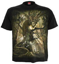Spiral Dragon Forest, T-Shirt Black|Dragon|Forest|Mystical|Celtic