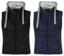 Womens Hooded Zipper Gilet Sleeveless Jacket Jumper Quilted Lined Casual Winter
