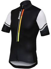Santini Black Karma Short Sleeved Cycling Jersey