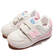 New Balance KV574RYY W Wide Beige Pink Suede Kids Girl Running Shoes KV574RYYW