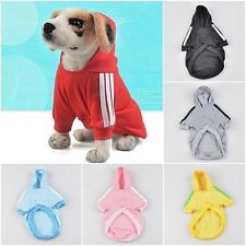 Small Breed Pet Dog  Hoodie Coat Sweater Jacket Jumper Clothes Various Colours