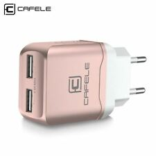 EU Charger Plug Travel USB 2.4A Dual output Universal Adapter Charger with 2 in