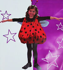Costume fille COCCINELLE robe carnaval rouge pois tg 4 - 6 - 8 ans