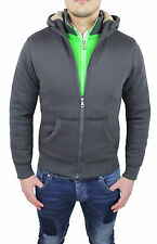 SUDADERA HOMBRE CARDIGAN GRIS OSCURO SLIM FIT CASUAL DEPORTIVO SUÉTER CHALECO