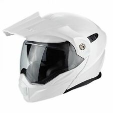 SCORPION adx-1 Touring Adventure Ribaltabile MOTO MOTOCICLETTA CASCO - Bianco