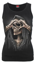 Spiral Dark Love, Razor Back Top Black|Reaper|Heart|Death|Celtic