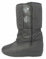 Mujer Térmico Impermeable Transpirable Nieve Blizzard botas negras talla 3-8