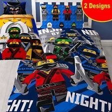 REVERSIBLE NEW Ninjago Movie LEGO Duvet Cover Bedding Set Kids Boys Kai Jay Nya