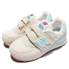 New Balance KV574RZY W Wide Ivory Blue Suede Kids Boys Running Shoes KV574RZYW
