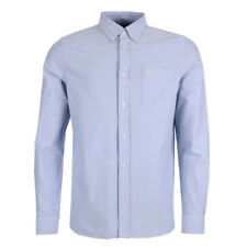 NEUF pour hommes Fred Perry Chemise Oxford - clair teinté manches longues