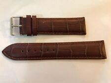 GENUINE LEATHER WATCH STRAP BAND BLACK/BROWN 18/20/22/24/26mm