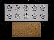 Merry Christmas Round Circle Stickers Labels Tags Packing / Gift box bags seal