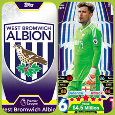 Match Attax 17 18 West Bromwich Albion - Team Cards - Star Player - Club Badge