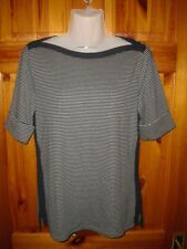 Ralph Lauren Aliza elbow length sleeve stripy boatneck top 2 sizes RRP: 55 GBP