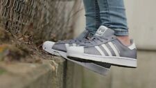 ADIDAS SUPERSTAR GREY & WHITE S75130 UK SIZE 3.5 BRAND NEW IN BOX
