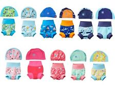 Splash About NEW IMPROVED Happy Nappy Swim Baby UVPF50+ and Matching Hat