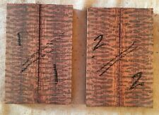 Snakewood bookmatched knife scale / knife handle sets high figure SPECIAL GRADE