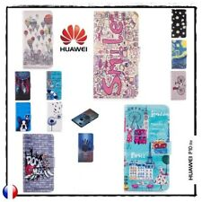 Etui coque housse Porte-cartes Cuir PU Leather case cover Huawei P10 Lite