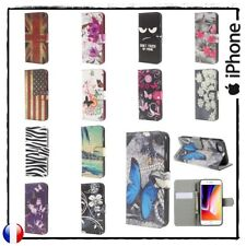 Etui housse coque porte cartes Cuir PU Leather Wallet Case Cover iPhone 7 / 8