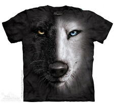 Black & white wolf - T-shirt loup - The Mountain - Enfant - Vêtement T-shirt ani