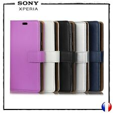 Etui porte-carte coque housse Cuir PU Leather Wallet Cover case Sony Xperia XZ1