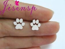 Women Stud Earrings Copper Paw Earring White Metal Charms Party Jewelry Gift