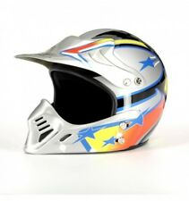 Casco Trial-cross Mrobert Mr100 Grigio Fantasia
