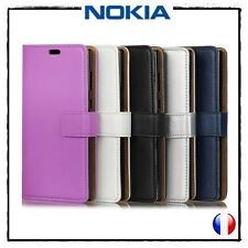 Etui porte-cartes coque housse Cuir PU Leather Wallet Cover case Nokia 8