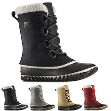Womens Sorel Caribou Slim Nubuck Waterproof Winter Hiking Mid Calf Boots UK 3-9