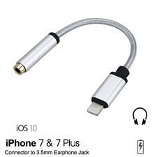 enchufe jack de 3.5mm Coche Aux Audio Música Cable adaptador para iPhone 7/7