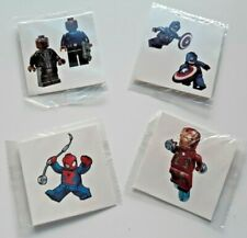 46eab24c2db88 Lego Avengers Temporary Tattoos Birthday Party Pack Loot Bag Fillers